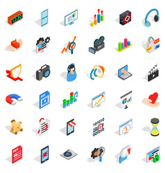 Computer design icons set isometric style vector