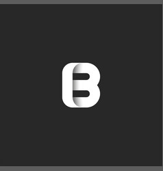 creative mark letter b logo bold monogram stylish vector image