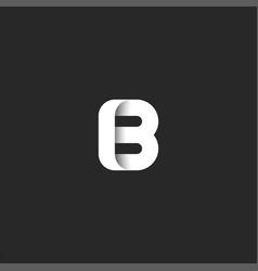Creative mark letter b logo bold monogram stylish vector