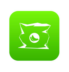 crumpled bag of chips icon digital green vector image