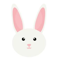 cute little rabbit head character vector image