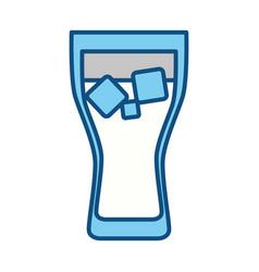 delicious fresh drink vector image