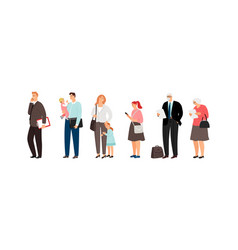 Different ages people characters vector