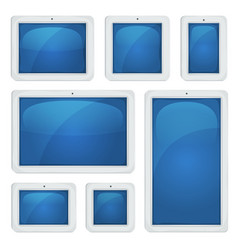 Digital tablet pc set vector