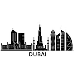 dubai architecture city skyline travel vector image