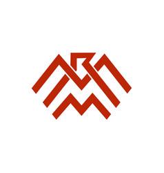 eagle patriotic logo vector image