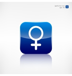 Female symbol woman vector image