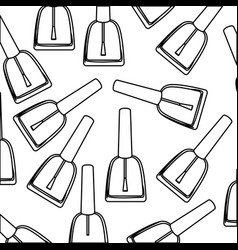 figure nails polish background icon vector image