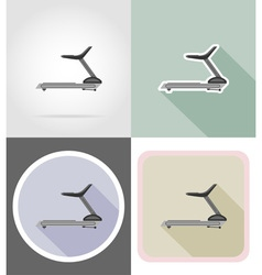 fitness flat icons 12 vector image