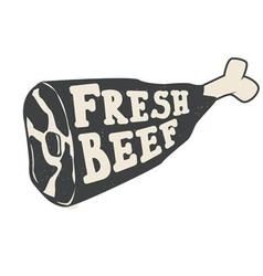 fresh beef vector image