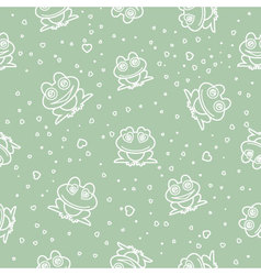 frog seamless background vector image