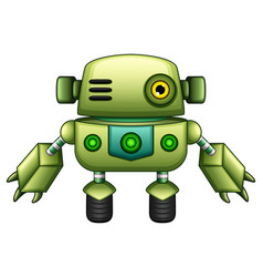 green robot cartoon isolated on white background vector image