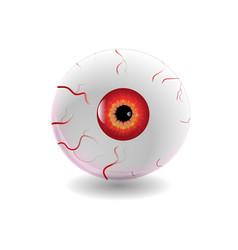 Halloween human eye eyeball with veins icon vector