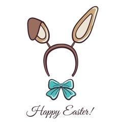 Happy Easter Rabbit Ears vector image