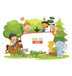 kids nature concept vector image