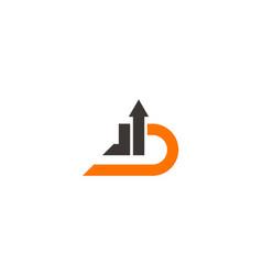 letter d arrow business logo vector image