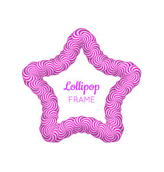 Lollipop star violet frame vector