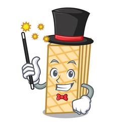 magician waffle mascot cartoon style vector image