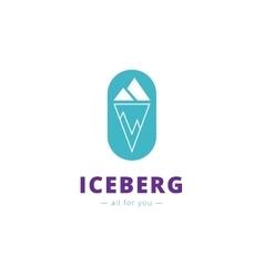 minimalistic iceberg logo vector image