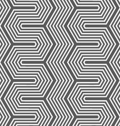 Monochrome dark hexagonal zigzag vector image