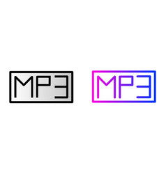 Mp3 icon mp3 music audio format vector
