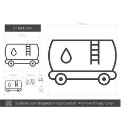 Oil tank line icon vector