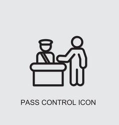 Pass control icon vector