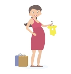 Pregnant woman on shopping Expectation concept vector image