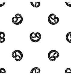 Pretzels pattern seamless black vector