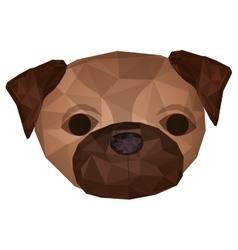 pug dog animal icon vector image