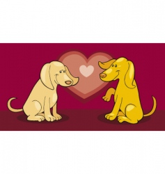puppies in love vector image