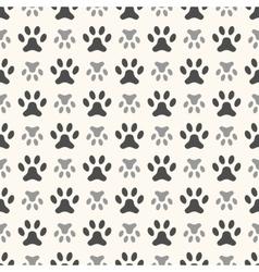 seamless animal pattern paw footprint endless vector image