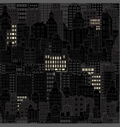 Seamless background with city building night vector