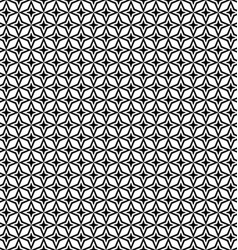 Seamless black and white thorn pattern vector