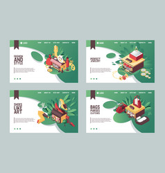 set of banners or landing page templates vector image