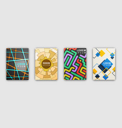Set of booklets covers with modern abstract design vector