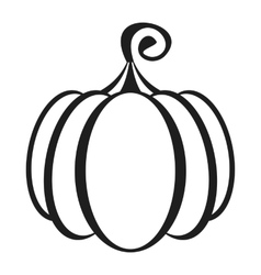 shelloween pumpkins icon vector image