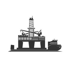 Shipment oil rig vector
