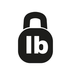 The pound icon Lb and weight symbol Flat vector