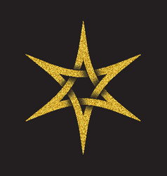 tribal symbol in six pointed star form vector image