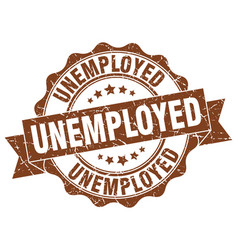 Unemployed stamp sign seal vector