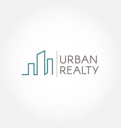 urban realty logo sign symbol vector image