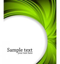 vector abstract green background vector image