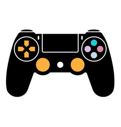 Video game ps4 controller gamepad flat color vector