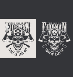Vintage firefighting logotype concept vector