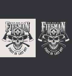 Vintage firefighting logotype concept vector