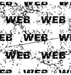 WEB pattern grunge monochrome vector image