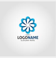 wild flower logo template vector image