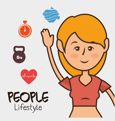 Woman character healthy lifestyle vector