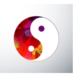 yin yang symbol created from abstract colorful vector image
